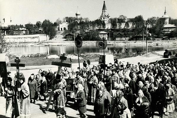 Крестный ход из г. Александрова 1991 г.