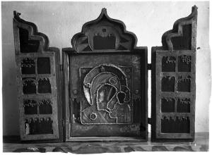 Ризница Троикого собора. Складень Казанская икона