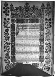Жалованная грамота Царя Феодора Алексеевича на мельницу