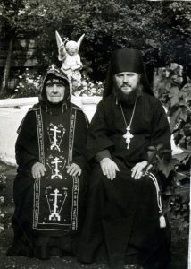 Схим. Сергия и архим. Антоний после пострига