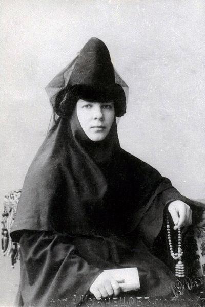 Инокиня Александра (Лихарева), будущая игумения Тамара, 1903 г.