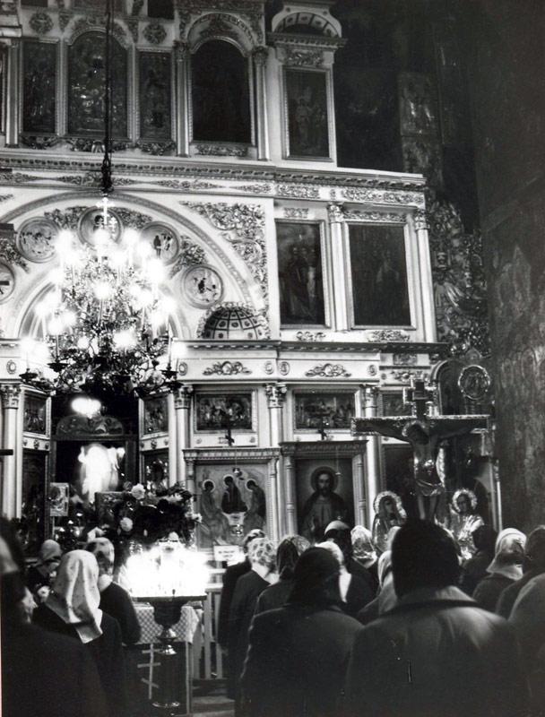 Богослужение в Троицком соборе 80-е гг. ХХ в.