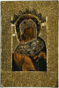 Владимирская икона Богородицы. Царский вклад в наш монастырь (ГИМ)