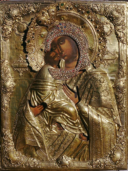 Владимирская икона БМ из Троицкого собора монастыря XVIII в.