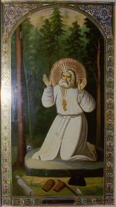 монастырская икона преп. Серафима Саровского, освященная на его мощах в 1903 году