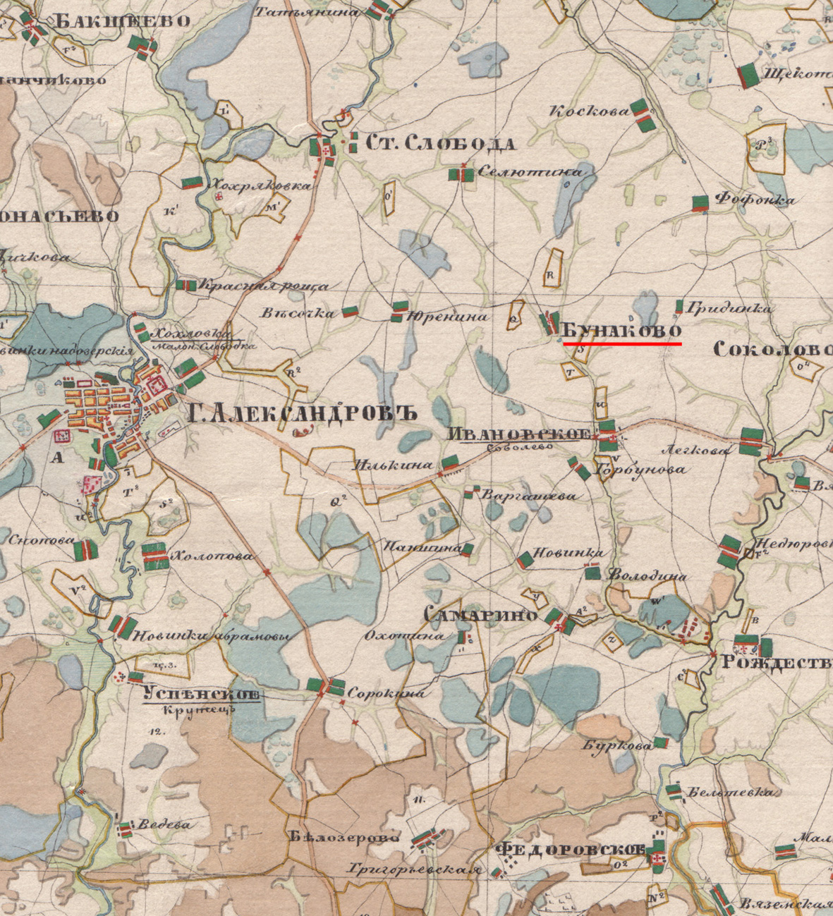 Карта Бунаково