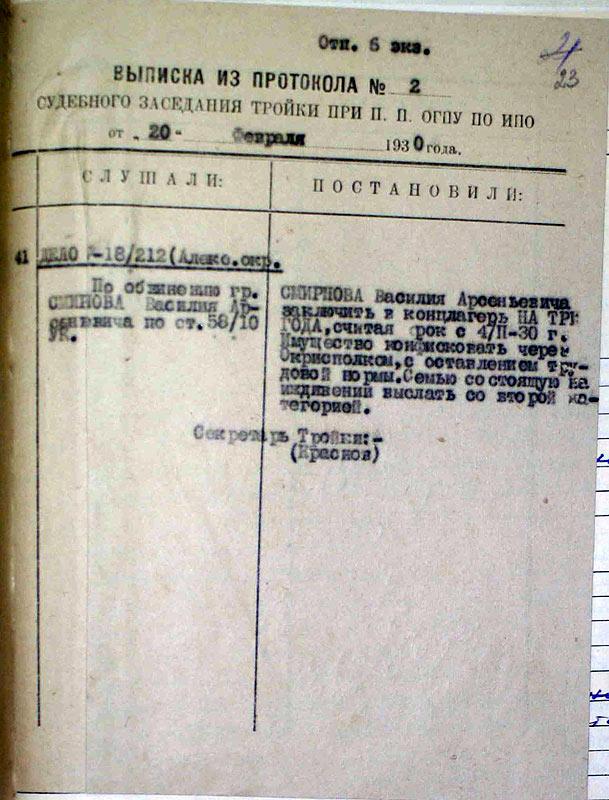 Приговор-1930