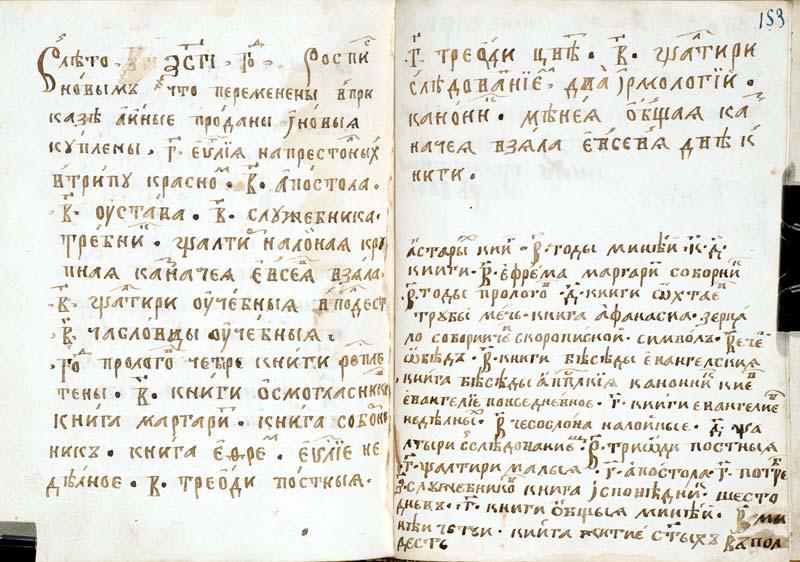 Роспись книг 1705 года