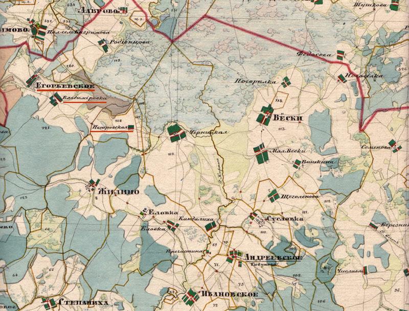 Егорьевское-карта-1850