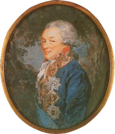 граф Иван Петрович Салтыков, 1790-е гг. Миниатюра А.Х. Ритта