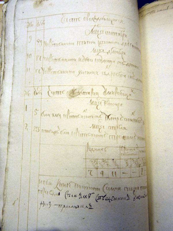 Метрическая книга Казанской церкви с. Ям (ГАЯО ф. 1200 оп. 4 д. 71, лл. 58 – 58об.)