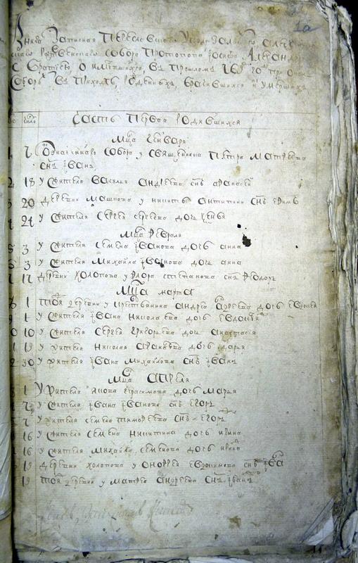 Метрическая книга собора за 1769 год (ГАЯО)
